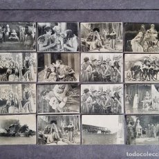 Coleccionismo Cromos antiguos: 16 CROMOS BEN-HUR / METRO GOLDWYN / RAMÓN NOVARRO / CHOCOLATE MUNDIAL. Lote 259319245