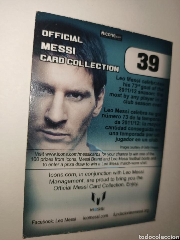 Coleccionismo Cromos antiguos: Cromo num 39 Messi CARD COLLETION editorial ICONS - Foto 2 - 260068040