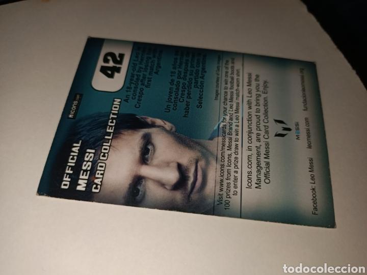Coleccionismo Cromos antiguos: Cromo num 42 Messi CARD COLLETION editorial ICONS - Foto 2 - 260069535