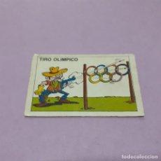 Coleccionismo Cromos antiguos: CROMO CHICLES LOS OLIMPILOCOS - TIRO OLIMPICO - CARAMELOS PASTELITOS. Lote 261559575
