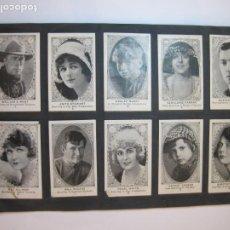Coleccionismo Cromos antiguos: ARTISTAS DE CINE-COL· COMPLETA DE 120 CROMOS-HAROLD LLOYD-CHAPLIN-BUSTER KEATON-VER FOTOS-(V-22.742). Lote 261626535