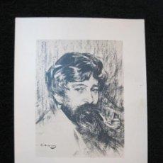 Coleccionismo Cromos antiguos: SANTIAGO RUSIÑOL-RAMON CASAS-CROMO FOTOGRAFICO-PUBLICIDAD INFONAL-VER FOTOS-(80.453). Lote 262303555