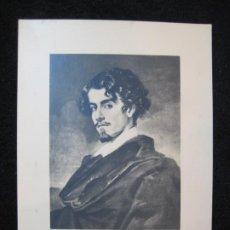 Coleccionismo Cromos antiguos: GUSTAVO ADOLFO BECQUER-VALERIANO BECQUER-CROMO FOTOGRAFICO-PUBLICIDAD INFONAL-VER FOTOS-(80.458). Lote 262303960