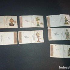 Coleccionismo Cromos antiguos: 7 ANTIGUAS CAJAS DE CERILLAS - RELOJES ANTIGUOS - CROMOS - FOSFORERA ESPAÑOLA. Lote 263660800
