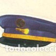 Collezionismo Figurine antiche: CROMO LA AVENTURA DEL TREN GORRA MAQUINISTA DE AUTOMOTORES. Lote 263806030