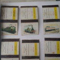Coleccionismo Cromos antiguos: CAJA DE CERILLAS. TRENES, LOCOMOTORA. DIBUJO REY PADILLA. 5, 2, 12, 9, 2, 12. FOSFORERA ESPAÑOLA.. Lote 264794454