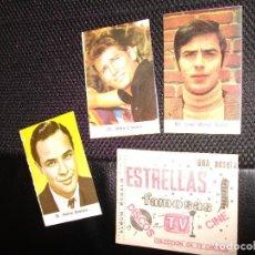 Coleccionismo Cromos antiguos: SOBRE DE CROMOS ALBUM ESTRELLAS FAMOSAS DISCOS TV CINE 1968 LANDON SERRAT MARLON BRANDO 3. Lote 265217009