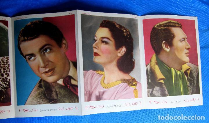 Coleccionismo Cromos antiguos: SOBRE CON 6 CROMOS. ASTROS Y ESTRELLAS. CINEFOTO. EDITORIAL BRUGUERA, 1940S - Foto 4 - 268312134