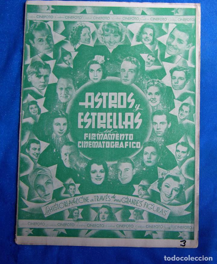 SOBRE CON 6 CROMOS. ASTROS Y ESTRELLAS. CINEFOTO. EDITORIAL BRUGUERA, 1940'S (Coleccionismo - Cromos y Álbumes - Cromos Antiguos)
