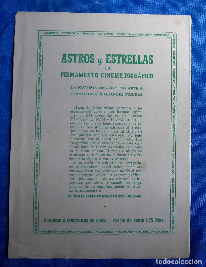 Coleccionismo Cromos antiguos: SOBRE CON 6 CROMOS. ASTROS Y ESTRELLAS. CINEFOTO. EDITORIAL BRUGUERA, 1940S - Foto 4 - 268312789
