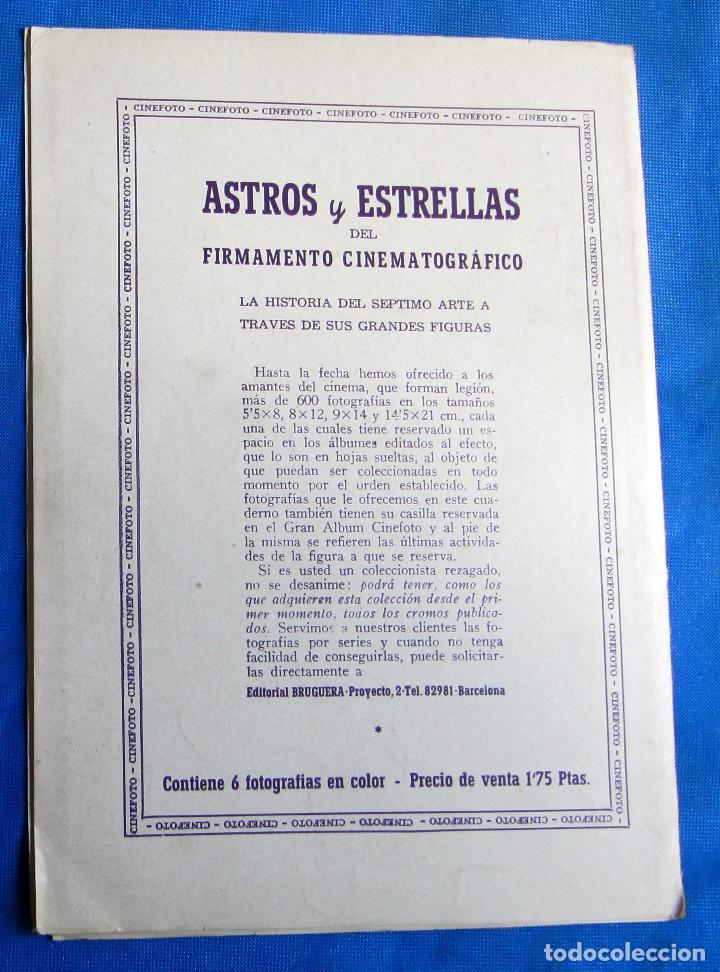 Coleccionismo Cromos antiguos: SOBRE CON 6 CROMOS. ASTROS Y ESTRELLAS. CINEFOTO. EDITORIAL BRUGUERA, 1940S - Foto 4 - 268313179