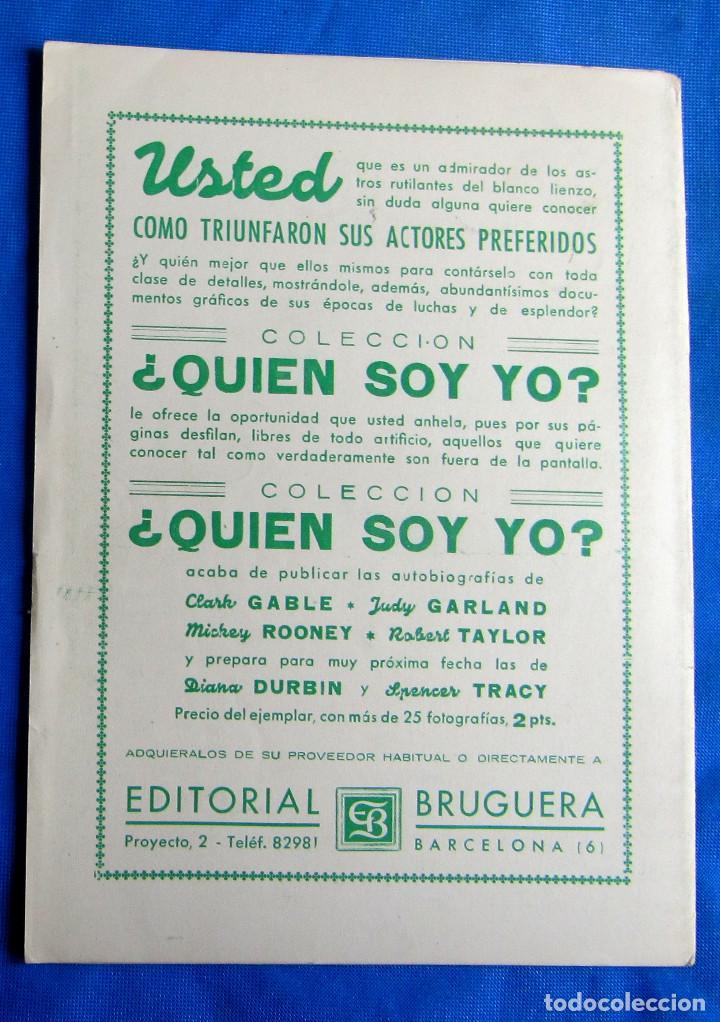 Coleccionismo Cromos antiguos: SOBRE CON 6 CROMOS. ASTROS Y ESTRELLAS. CINEFOTO. EDITORIAL BRUGUERA, 1940S - Foto 4 - 268314009