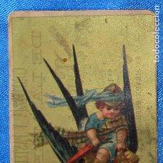 Coleccionismo Cromos antiguos: CROMO PÁJARO Y NIÑO. PUBLICIDAD DE CONFITERÍA Y PASTELERÍA DE LA MERCED. TERESA COLOMÉ, BARCELONA. Lote 269391503
