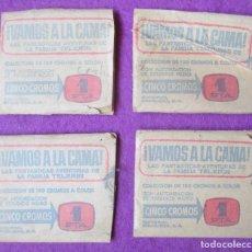 Coleccionismo Cromos antiguos: LOTE 4 SOBRES VACIOS ¡VAMOS A LA CAMA! LA FAMILIA TELERIN ED. BRUGUERA. Lote 269646658