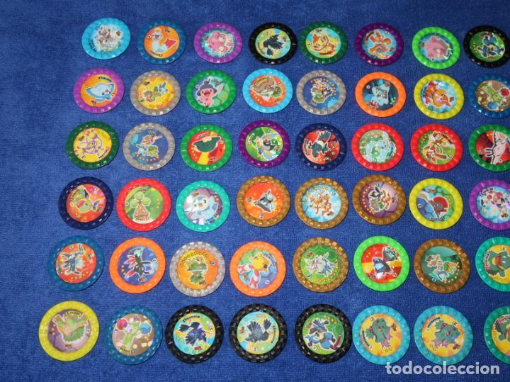 Coleccionismo Cromos antiguos: Lote de 60 tazos Pokemon Roks - Chipicao - Matutano ¡Imepcables! - Foto 2 - 269742348
