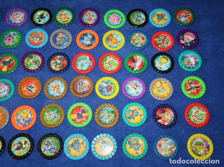 Coleccionismo Cromos antiguos: Lote de 60 tazos Pokemon Roks - Chipicao - Matutano ¡Imepcables! - Foto 3 - 269742348