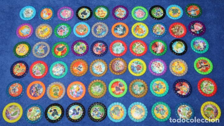 LOTE DE 60 TAZOS POKEMON ROKS - CHIPICAO - MATUTANO ¡IMEPCABLES! (Coleccionismo - Cromos y Álbumes - Cromos Antiguos)