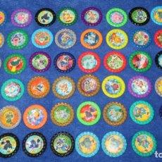 Coleccionismo Cromos antiguos: LOTE DE 60 TAZOS POKEMON ROKS - CHIPICAO - MATUTANO ¡IMEPCABLES!. Lote 269742348