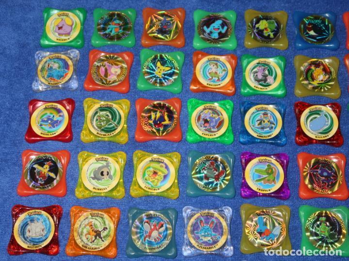 Coleccionismo Cromos antiguos: Lote de 84 tazos Pokemon Advanced Waps - Panini ¡Impecables! - Foto 2 - 269743228