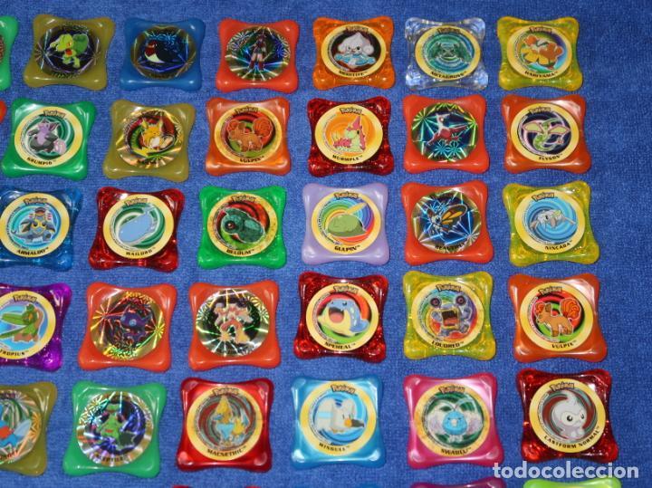 Coleccionismo Cromos antiguos: Lote de 84 tazos Pokemon Advanced Waps - Panini ¡Impecables! - Foto 3 - 269743228