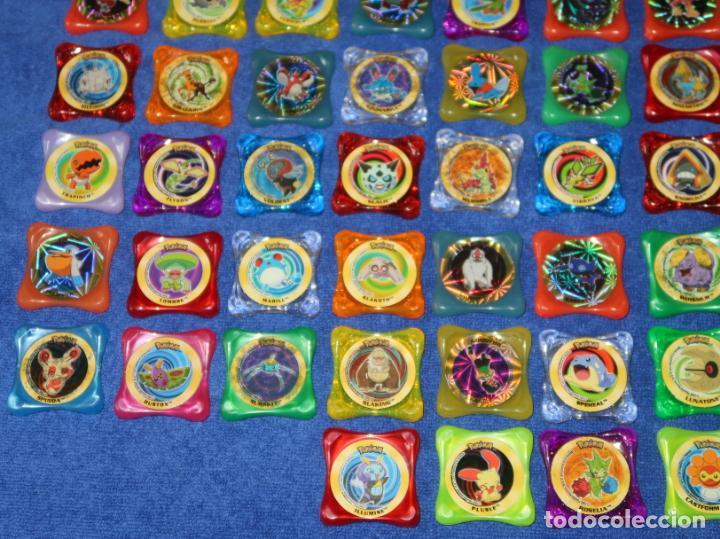 Coleccionismo Cromos antiguos: Lote de 84 tazos Pokemon Advanced Waps - Panini ¡Impecables! - Foto 4 - 269743228
