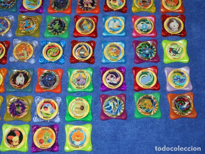 Coleccionismo Cromos antiguos: Lote de 84 tazos Pokemon Advanced Waps - Panini ¡Impecables! - Foto 5 - 269743228