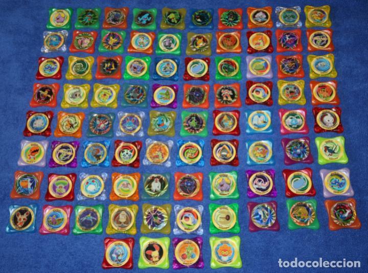 LOTE DE 84 TAZOS POKEMON ADVANCED WAPS - PANINI ¡IMPECABLES! (Coleccionismo - Cromos y Álbumes - Cromos Antiguos)