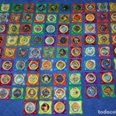 Coleccionismo Cromos antiguos: LOTE DE 84 TAZOS POKEMON ADVANCED WAPS - PANINI ¡IMPECABLES!. Lote 269743228
