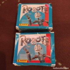Coleccionismo Cromos antiguos: ROBOTS - 100 SOBRES DE CROMOS SIN ABRIR - PANINI. Lote 270241708