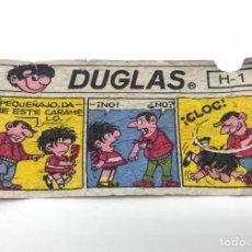 Coleccionismo Cromos antiguos: ANTIGUO CHICLE DOUGLAS DUGLAS ENVOLTORIO CROMO VIÑETA CÓMIC H-1.. Lote 270572518