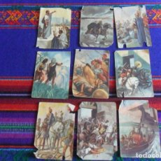 Coleccionismo Cromos antiguos: CROMO HISTORIA ANTIGUA NºS 10 17 84 87 92. I.G. VALVERDE SAN SEBASTIÁN. REGALO 4 CROMOS MÁS.. Lote 270575608