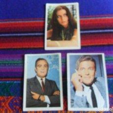 Coleccionismo Cromos antiguos: CROMO NUNCA PEGADO ÍDOLOS DE LA TV 46 ROGER MOORE 94 FEDERICO GALLO 96 ELISA RAMÍREZ FHER 1968 RAROS. Lote 270595718