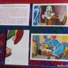 Coleccionismo Cromos antiguos: CROMO NUNCA PEGADO PINOCCHIO PINOCHO 9 14 ADHESIVO 12 Y VALE PETICIÓN DE ÁLBUM. CLESA 1974. RAROS.. Lote 270602688