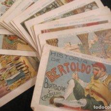 Coleccionismo Cromos antiguos: HISTORIA DE BERTOLDO, BERTOLDINO Y CACASENO-COLECCION COMPLETA 30 CROMOS-VER FOTOS-(CR-2633). Lote 270646138