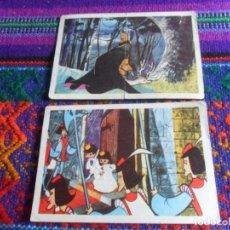 Coleccionismo Cromos antiguos: CROMO NUNCA PEGADO BLANCANIEVES Y LOS 7 SIETE ENANITOS Nº 17 Y 78. RUIZ ROMERO 1964. RAROS.. Lote 270686493