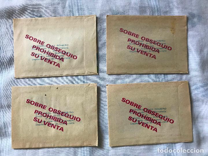 Coleccionismo Cromos antiguos: 4 sobres sin abrir del álbum Hace Millones de Año 1970, ED. RUIZ ROMERO. - Foto 3 - 272169948