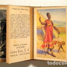 Coleccionismo Cromos antiguos: A TRAVÉS DEL ÁFRICA SALVAJE (36 CROMOS - COMPLETO) - BARCELONA S.F.. Lote 272937693