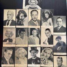 Coleccionismo Cromos antiguos: LOTE DE CROMOS DE ARTISTAS CINEMATOGRÁFICOS. Lote 275866553