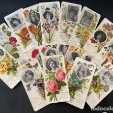 Coleccionismo Cromos antiguos: LOTE DE 23 CROMOS DEL EMBLEMA DE LAS FLORES. Lote 275866783