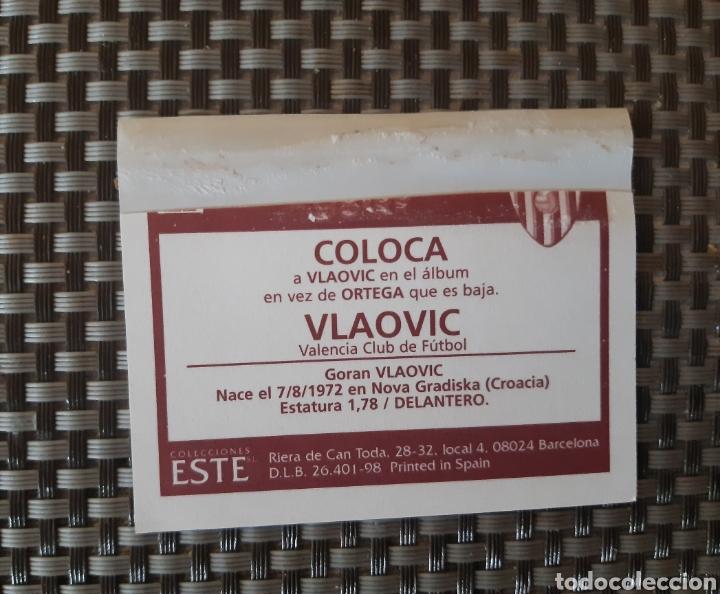Coleccionismo Cromos antiguos: Cromo liga 98-99 coloca Vlaovic ventanilla - Foto 2 - 277168618