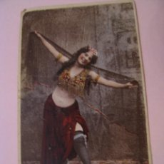 Coleccionismo Cromos antiguos: ANTIGUO CROMO. BAILARINA. 9X5,5 CM.. Lote 277724178