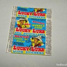 Coleccionismo Cromos antiguos: ANTIGUO ENVOLTORIO DE CHICLE BUBBLE GUM LUCKY LUKE DE JAKE MOLINA DE SEGURA DEL AÑO 1990S.. Lote 277727403