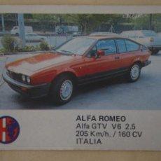 Coleccionismo Cromos antiguos: CROMO DE COCHES ALFA ROMEO SIN PEGAR Nº 4 AÑO 1986 DEL ALBUM AUTO 2000 DE COMIC-ROMO COMICROMO. Lote 278694358