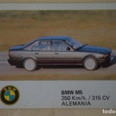 Coleccionismo Cromos antiguos: CROMO DE COCHES BMV M5 SIN PEGAR Nº 16 AÑO 1986 DEL ALBUM AUTO 2000 DE COMIC-ROMO COMICROMO. Lote 278694618