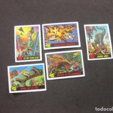Coleccionismo Cromos antiguos: LOTE DE TARJETAS DE DINOSAURS ATTACK TRADING CARD. 1988. Lote 279515413