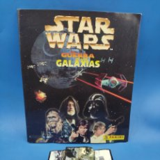 Coleccionismo Cromos antiguos: ALBUM STAR WARS PANINI PLANCHA + CROMOS. Lote 284784103