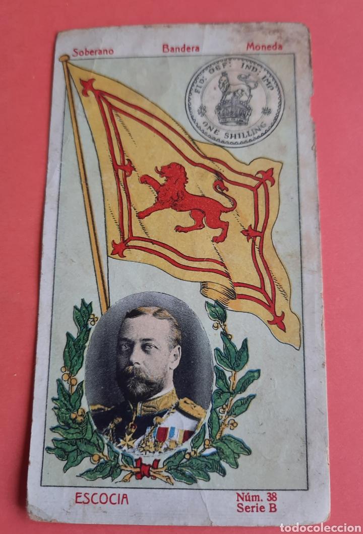 CROMO SOBERANO BANDERA MONEDA- ESCOCIA- NÚM 38 SERIE B- CHOCOLATE IMPERIAL- APROX 1910 (Coleccionismo - Cromos y Álbumes - Cromos Antiguos)