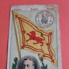 Coleccionismo Cromos antiguos: CROMO SOBERANO BANDERA MONEDA- ESCOCIA- NÚM 38 SERIE B- CHOCOLATE IMPERIAL- APROX 1910. Lote 285400053