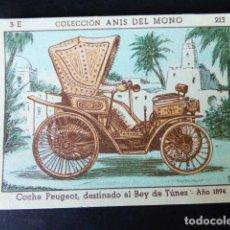 Coleccionismo Cromos antiguos: CROMO ANIS DEL MONO LA LOCOMOCION TERRESTRE A TRAVES DE LOS TIEMPOS SERIE E 213. Lote 287035258