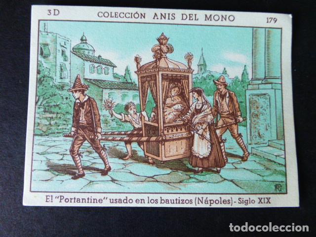 CROMO ANIS DEL MONO LA LOCOMOCION TERRESTRE A TRAVES DE LOS TIEMPOS SERIE D 179 (Coleccionismo - Cromos y Álbumes - Cromos Antiguos)